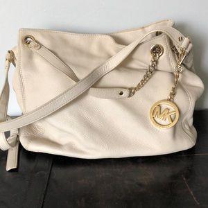 Cream Michael Kors bag